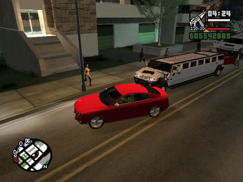 Mods GTA San Andreas: Audi S5 y Hummer Limusina